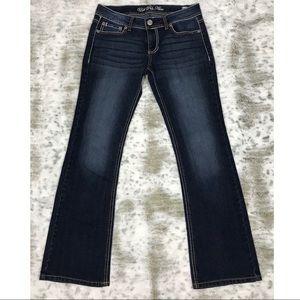 Miss Me Women's Low-Rise straight  leg Jeans.